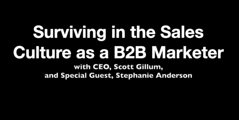 Surviving and Thriving in the Sales Culture as a B2B Marketer