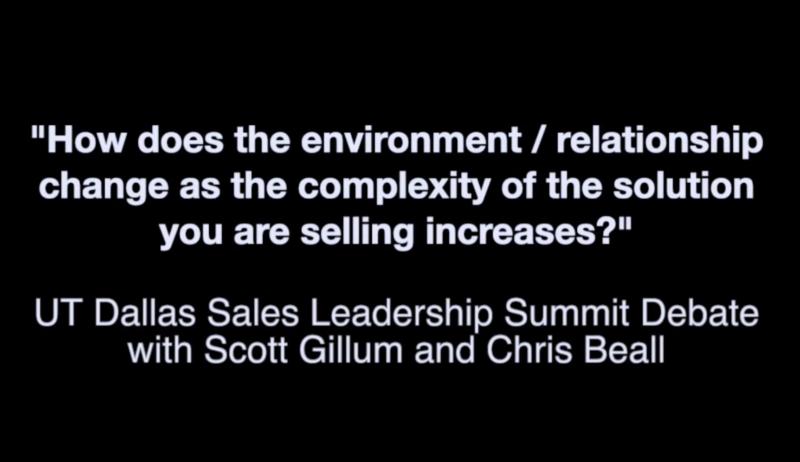 UT Dallas Sales Leadership Summit